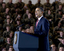 Obama Announced a Plan that Will Withdraw Substantial Numbers of Troops from Iraq