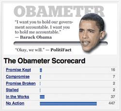 Obameter Measures Barack Obama's Campaign Promises