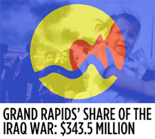 The Iraq War Has Cost Grand Rapids Taxpayers $343.5 Million