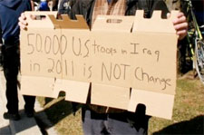 Protestors Drew Attention to Obama's Iraq Policy on Saturday