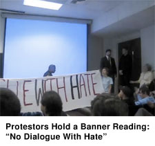 Protest Forces Tancredo Off Stage