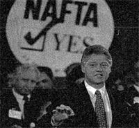 bill clinton promoting nafta photo