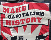 g8 protest photo - make capitalism history