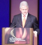 photo of bill clinton in grand rapids