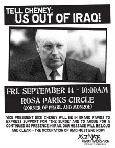 cheney protest poster