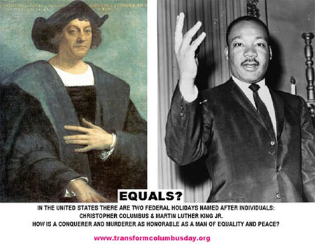 graphic: mlk and columbus: equal?