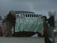 no war, no warming at hummer dealership photo